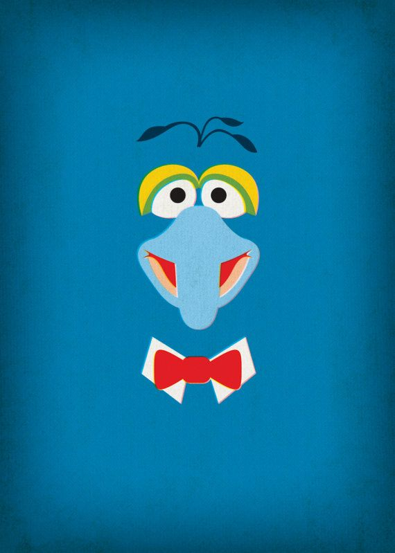 The Muppets Show Gonzo Minimalist Poster Retro by TheRetroInc