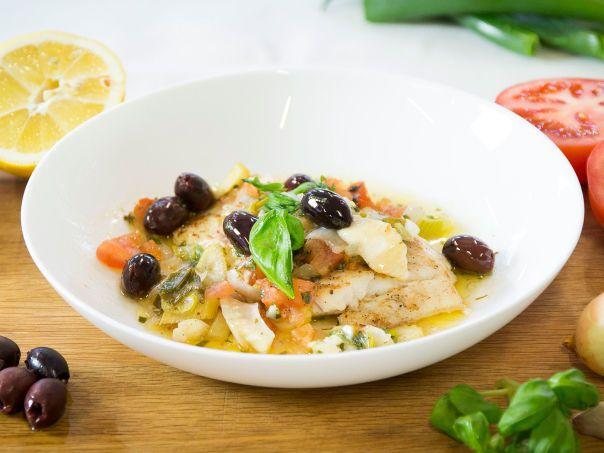 Skrei med smak av middelhavet