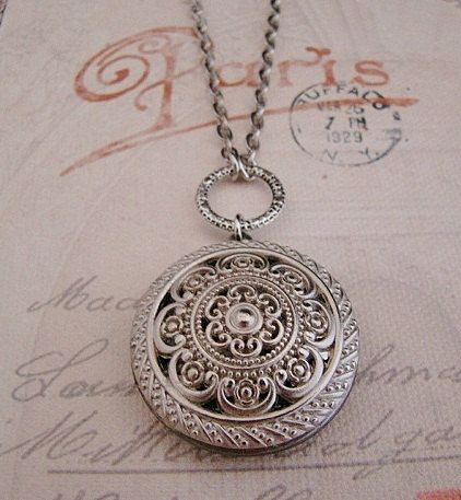 Beautiful Silver Photo Locket Wedding Bride Birthday Mother Sister Wife Daughter Friend Anniversary - Nellie on Etsy, $29.00