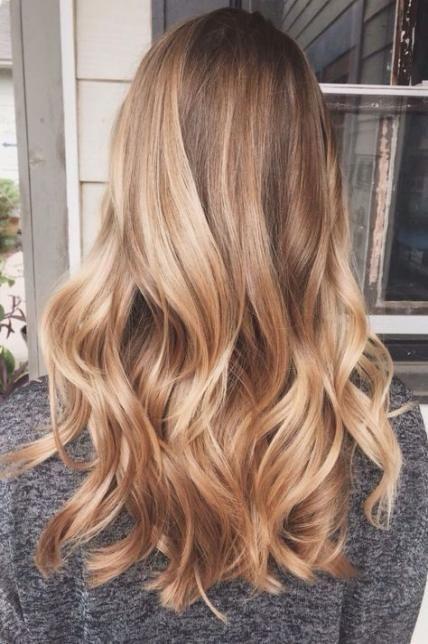 Cheveux châtains surlignés au miel 56+ Idées  #chatains #cheveux #idees #surl…
