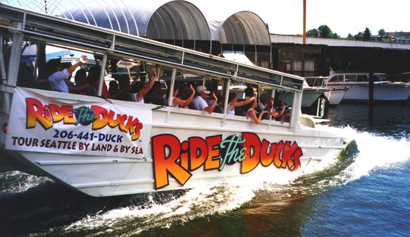 Ride the Ducks of Seattle has been voted the #1 tour in Seattle 7 years in a row! Our unforgettable, amphibious tour of Seattle will take you through the Downtown Shopping District and Pioneer Square, past the Seattle Waterfront, Space … Read More →