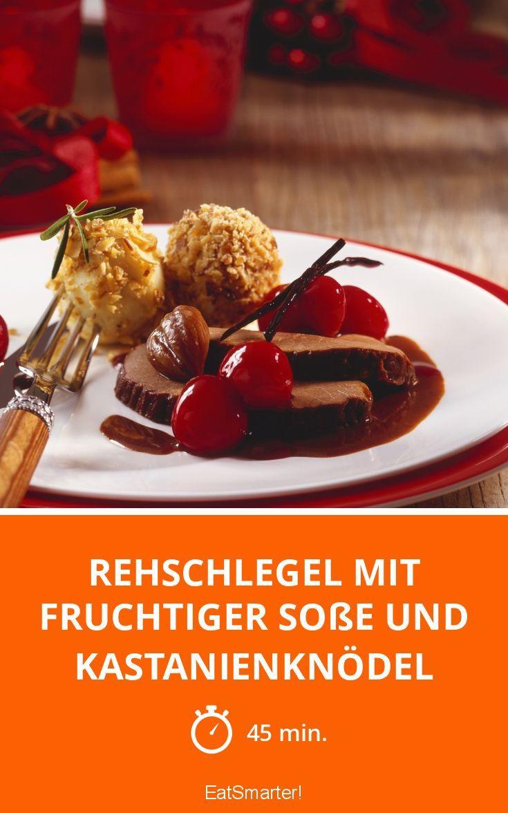 Rehschlegel mit fruchtiger Soße und Kastanienknödel - smarter - Zeit: 45 Min. | eatsmarter.de