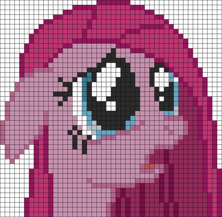 MLP Pinkamena perler bead pattern | Cupcakes,smile and ...