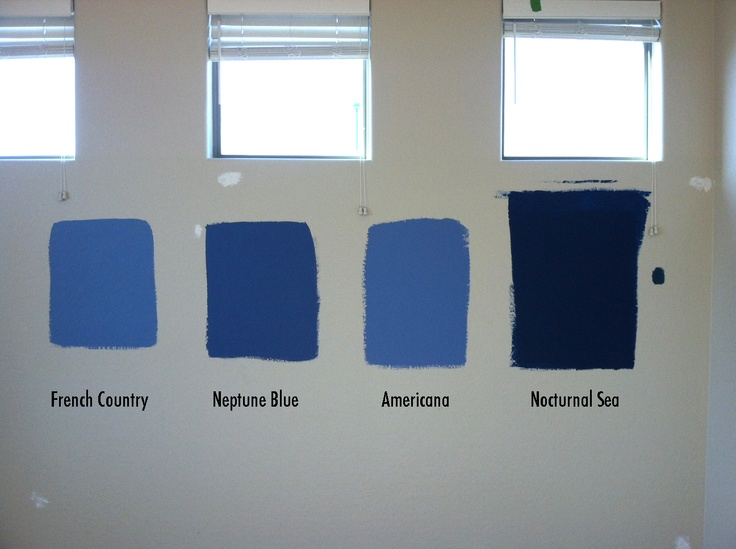Blues For The Bedroom From Behr Paints: French Country; Neptune Blue;  Americana;