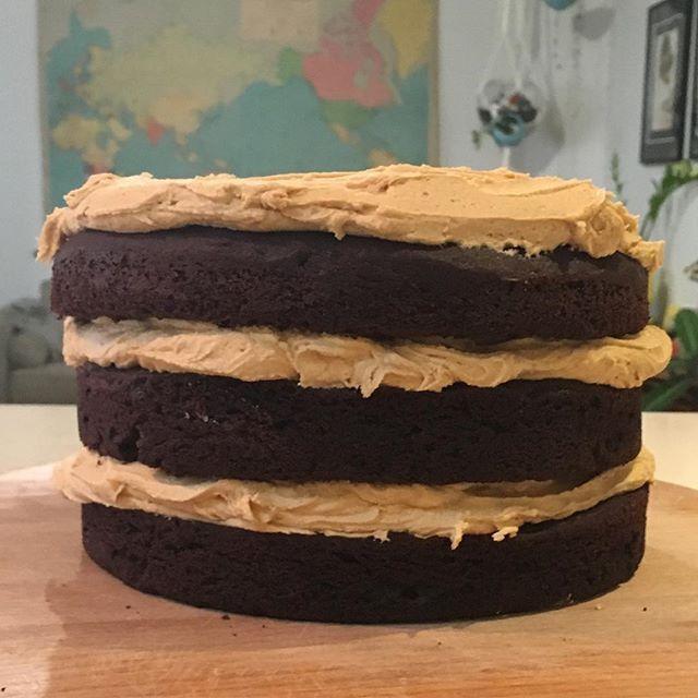 #sundaycake #triplethreat #dinnerwiththeparrys