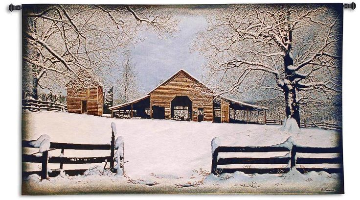 Winters Gift by Bob Timberlake | 53 x 31 | Woven Tapestry