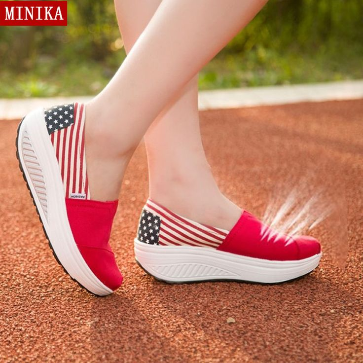 New 2016 Color block Light weight Comfortabale women shoes Top quality Canvas shoes Women's platform wedge casual(China (Mainland))