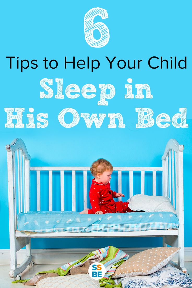 Tips on how to get your child to sleep—and stay—in his own bed the whole night. If you struggle with a child who won't stay in bed or room to sleep, this post is for you! Learn how to get your child to sleep in their own bed all night!