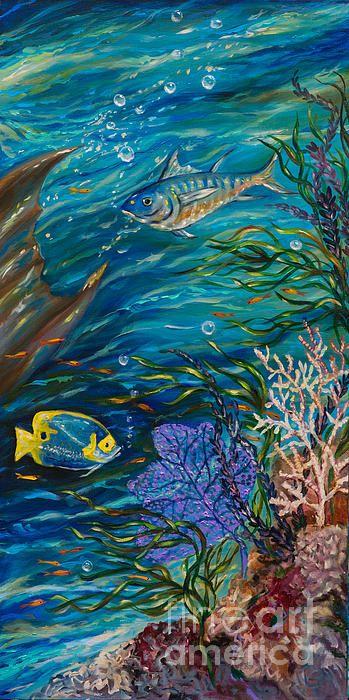 Coral Reef Rhapsody Right Print By Linda Olsen Mermaids