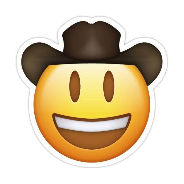 Cowboy Emoji Sticker By Aleexbee Emoji Stickers Iphone Case Stickers Hydroflask Stickers
