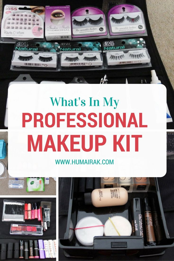 What's In My Professional Makeup Kit? All the things a professional  beginner makeup artist needs to start their kit.