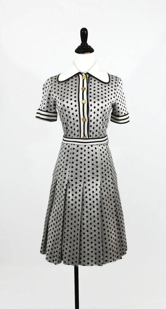 70s monochrome dress