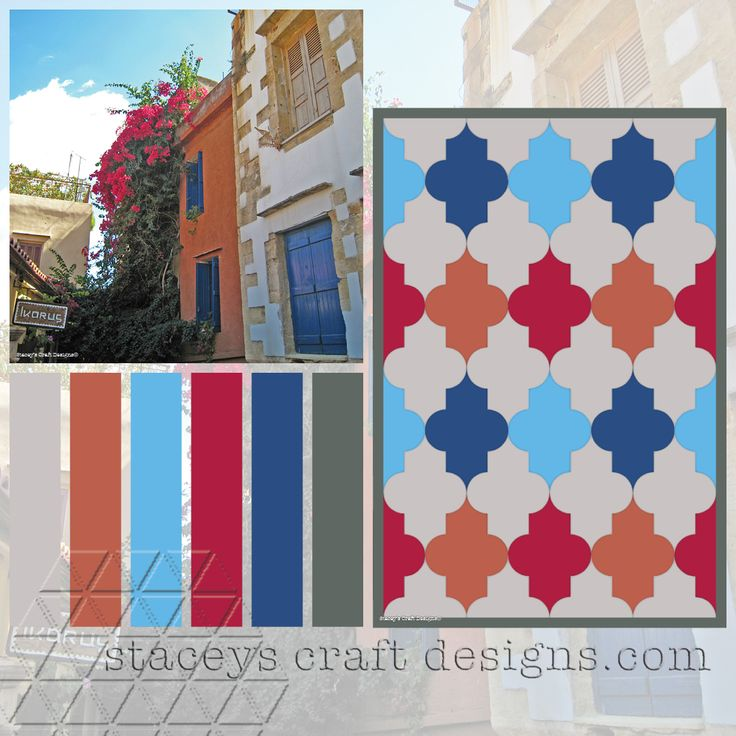 Colour Palette Chania Crete by Stacey's Craft Designs
