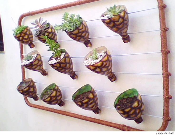 Home decorarions from recycle flower pots made from top for Home decorations from waste products