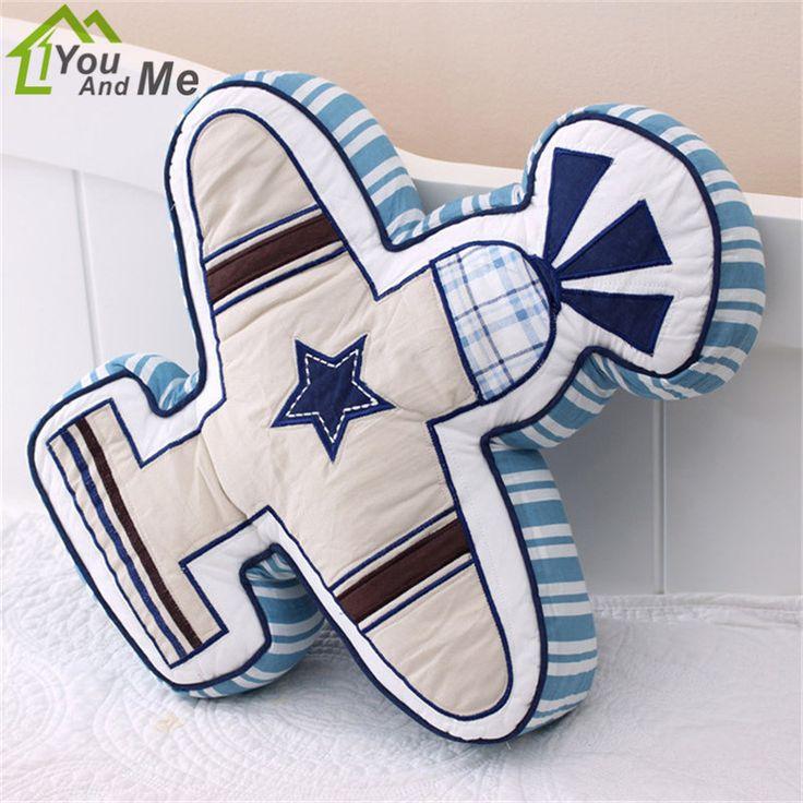 Cartoon Plane Shape Train Vehicle Quilt Cotton Cushion Pillow Children Bedroom Decoration Boy's Xmas Gift #Affiliate