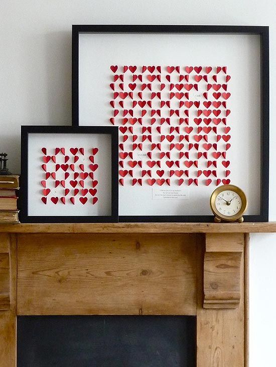 /: Wall Art, Living Rooms, Diy Art, Paper Heart, Paperheart, Heart Art, Valentines Day, Shadows Boxes, Diy Projects