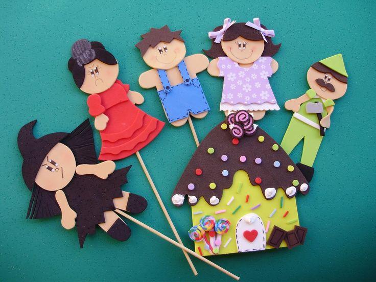 marionetas cuentos hansel y gretel de fieltro plantilla - Buscar con Google