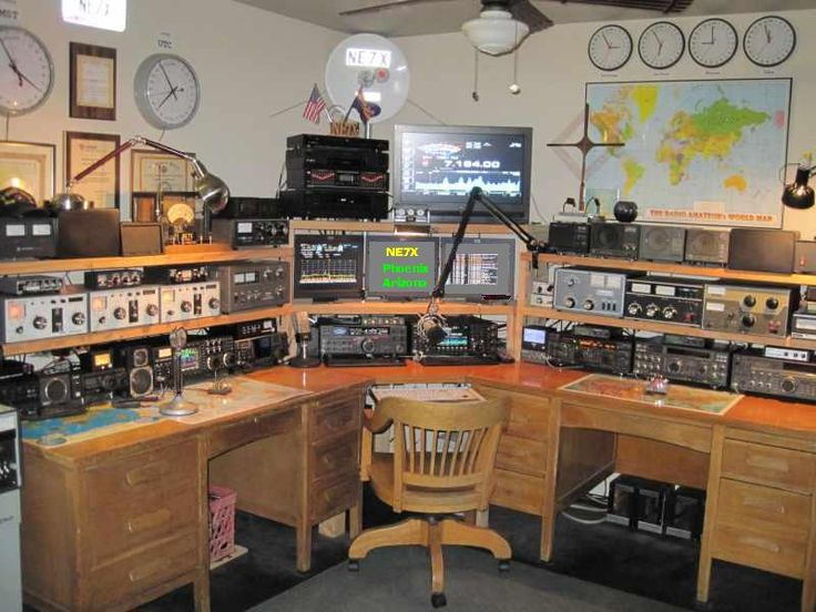 NE7X - Radio Shack - Phoenix Arizona USA  Clocks and maps for walls. Comfy chair. Lots of shelf space.