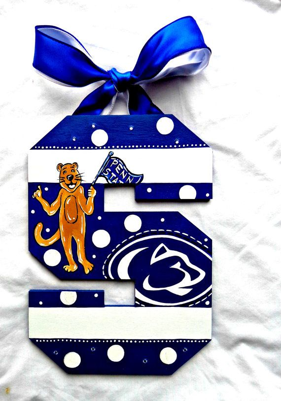Penn State Nittany Lion Inspired Painted Wall by TheFairyPaintbox