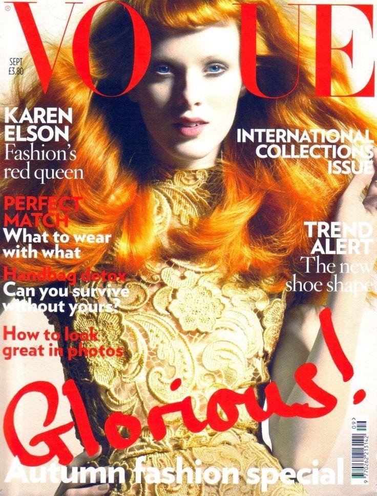 Karen Elson VOGUE British #9 2008 fashion celebrity monthly