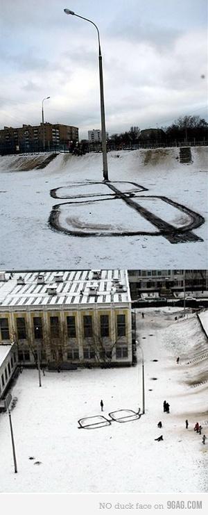 snow glasses street art