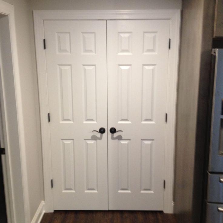 258 best images about doors interior exterior on pinterest dark doors fiberglass entry for Double hung interior closet doors