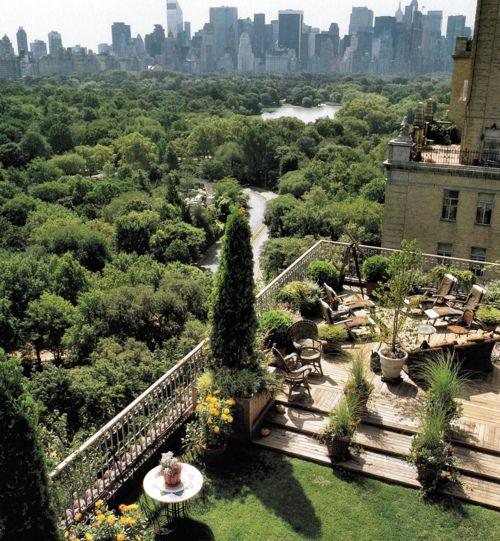 Dario's garden terrace overlooking Central Park