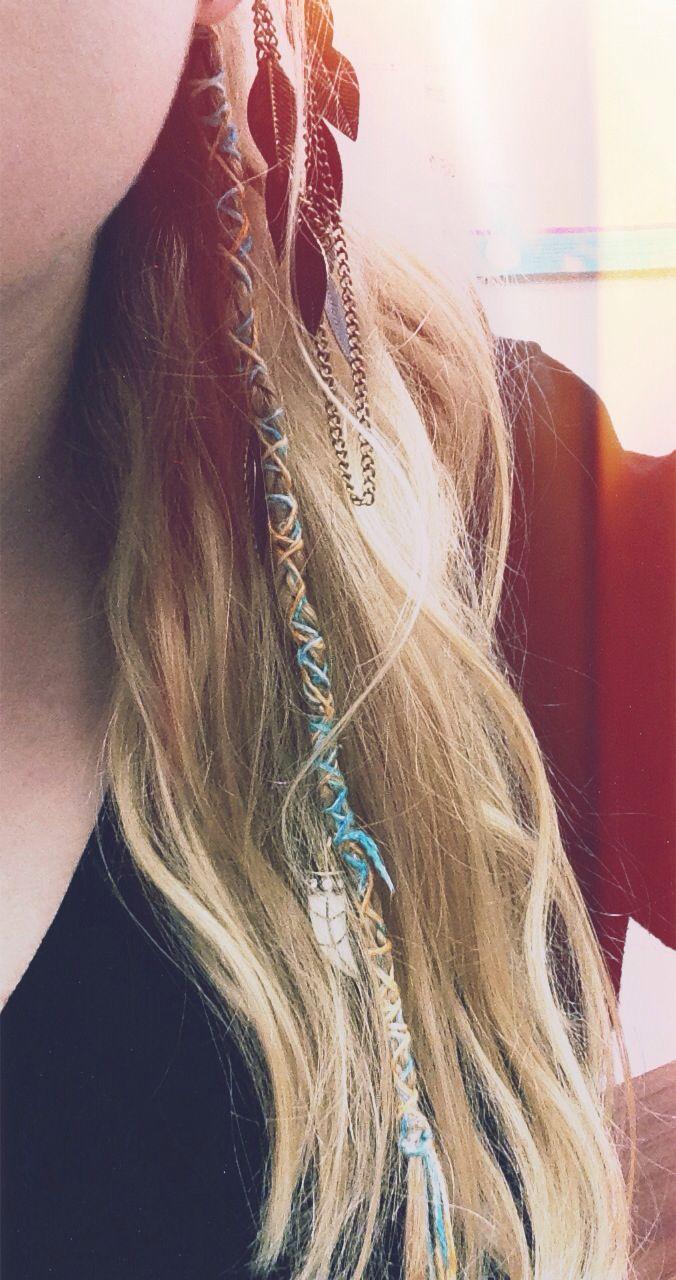 I wish I was a hippy. Cute hair wrap