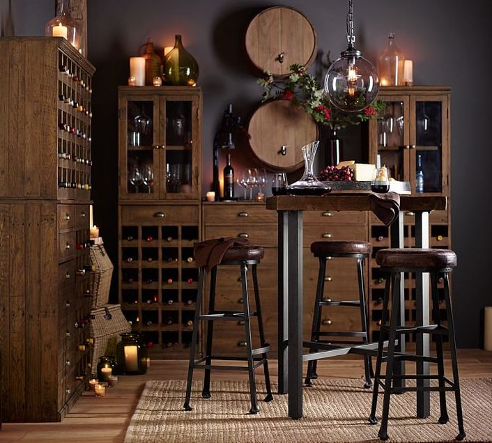Organize and display your entertaining essentials with this convenient bar, designed after an antique French piece we spotted during our travels. Wine cubbies, drawers and cabinets provide spacious storage. It's crafted of FSC-certified reclaimed pine for years of lasting beauty.
