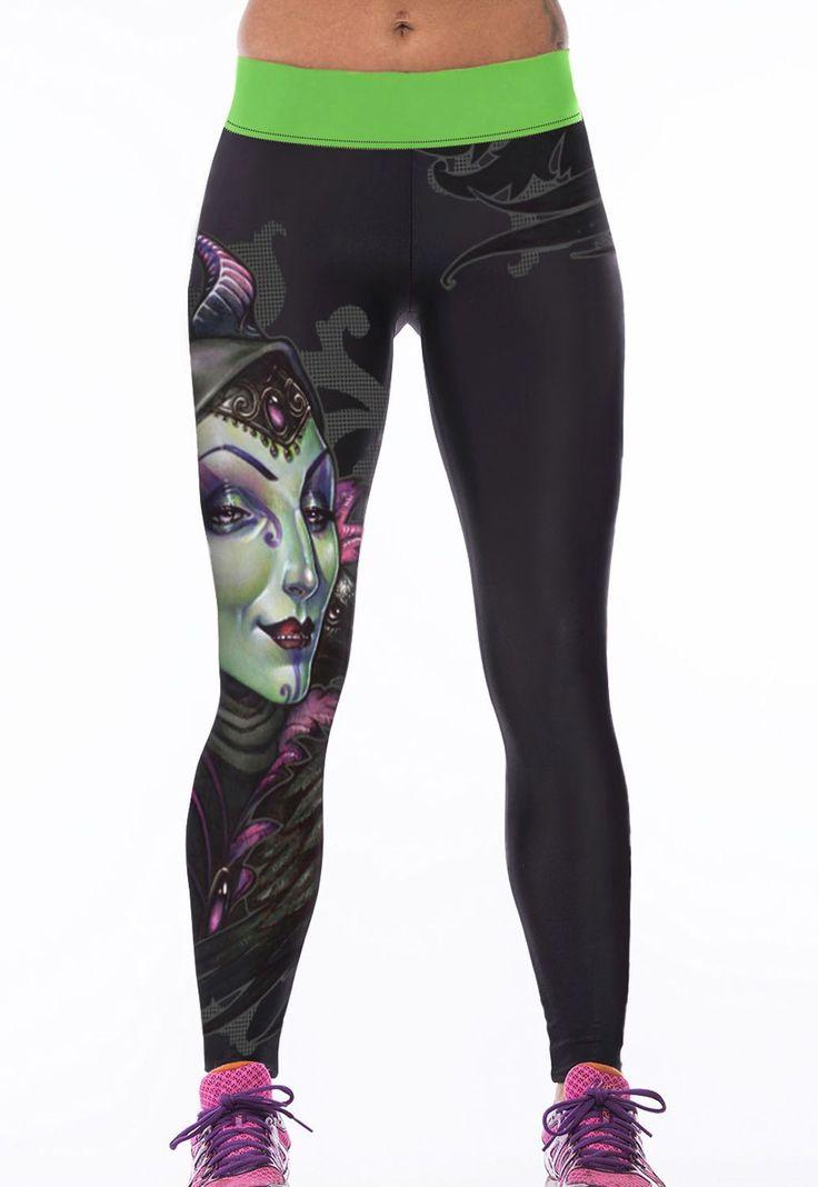 Leggings Banshee Impression Stretch Yoga Pantalons Pas Cher www.modebuy.com @Modebuy #Modebuy #Noir #me #like