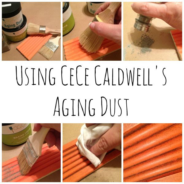 Using CeCe Caldwell Aging Dust.