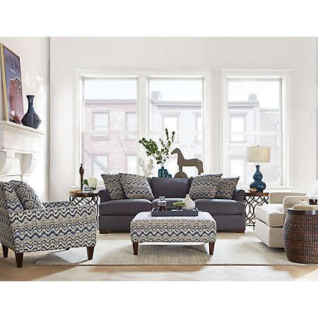 Detroit Sofa Co Lafayette Collection Features A Combination Of Blue Natural And Grey Find This Pin More On Art Van Furniture