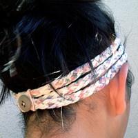 Three-Strand Braided T-Shirt Headband