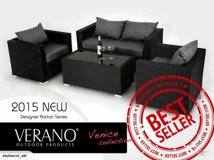 Rattan Outdoor Furniture Sofa Set 4pc VERANO | Trade Me