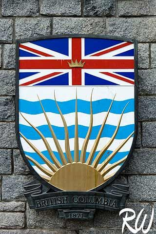 Shield of British Columbia Province, Victoria, Canada