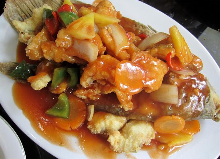 Gurame Asam Manis: Resep Ikan, Indo Food, Indonesian Cuisine, Gurami Asam, Gurame Asam, Indonesian Food, Ikan Gurami, Indonesian Cooking