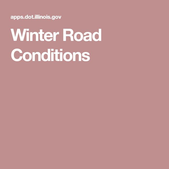 Winter Road Conditions