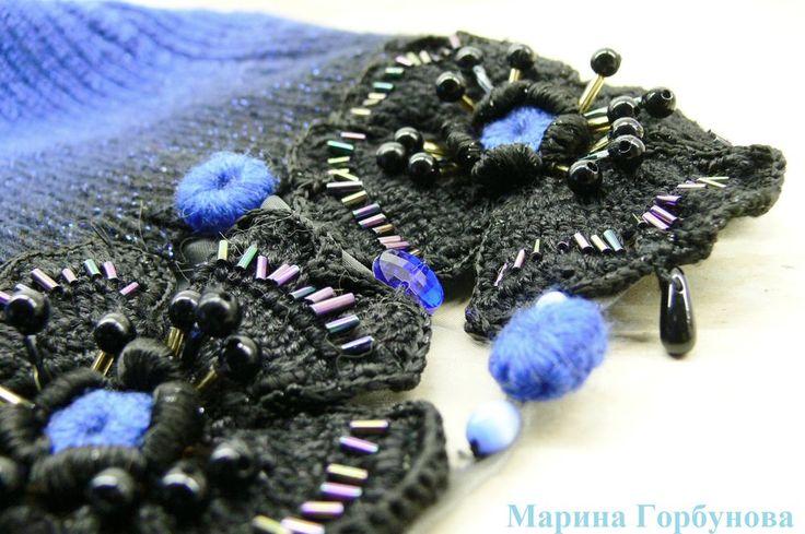 Утепляемся красиво .Вязаное шерстяное платье годе Ундина.Авторская ручная работа - Ярмарка Мастеров - ручная работа, handmade