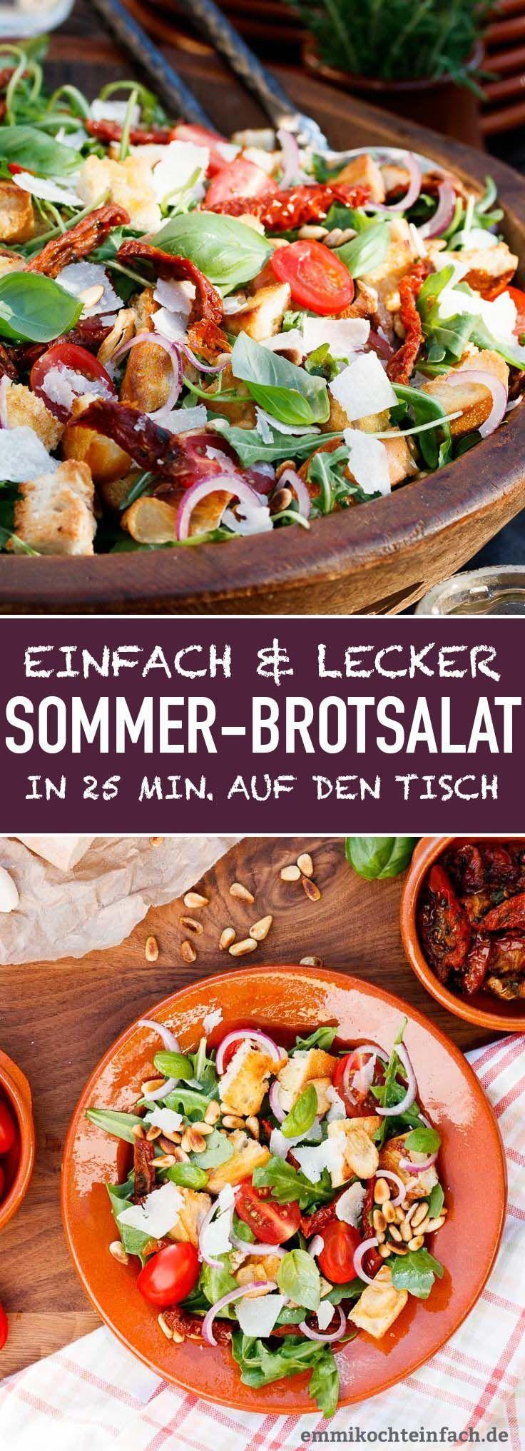 Mediterraner Brotsalat – schnell und einfach   – Sommerlich leichte Rezepte