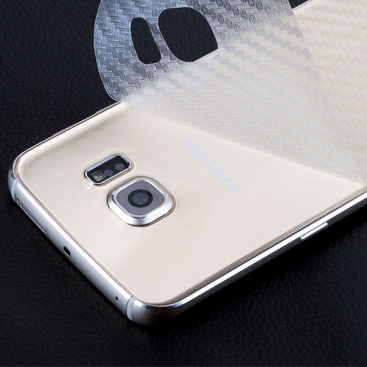 3D Anti-empreintes digitales Transparent Fiber De Carbone Retour Film Protecteur D'écran Pour Samsung Galaxy S7 S6 Edge Pas Trempé Verre Film