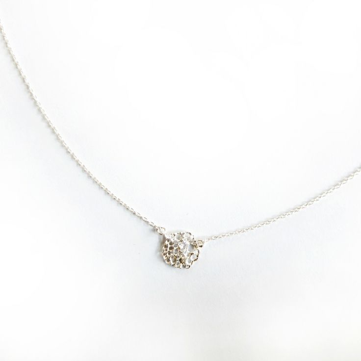 N022 Sterling Silver with Diamond Necklace