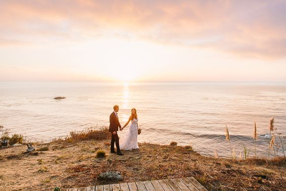 Big Sur Wedding by Danielle Poff Photography - via Magnolia Rouge