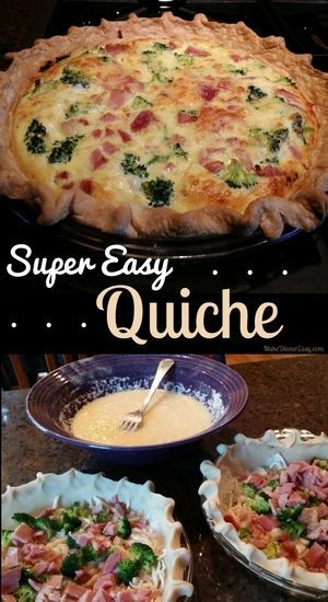 "A friend gave me this Super Easy Quiche recipe which I've made many times.  My favorite part was her description when she said, ""you just can't beat a yummy 3 step recipe!"" I completely agree!"