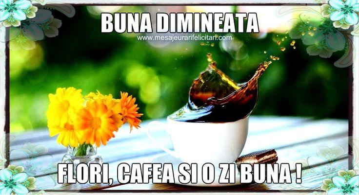 Flori, cafea si o zi buna!