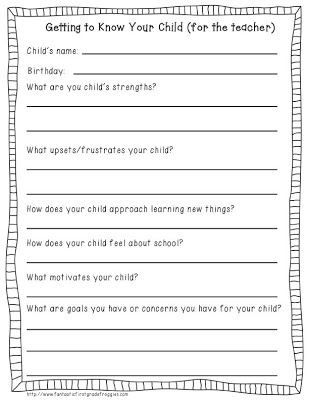 Back-to-School Freebie: Student info forms