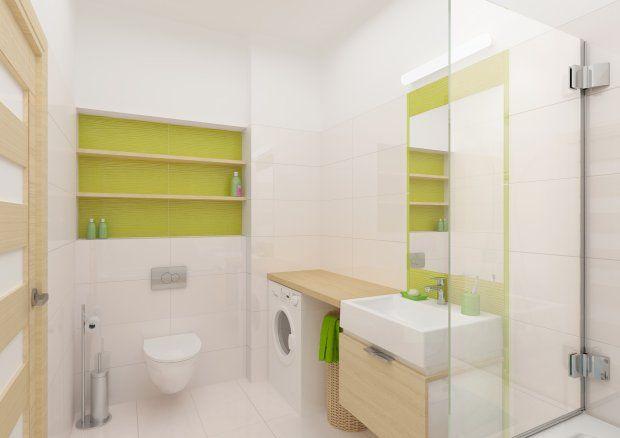 Problem małej łazienki można rozwiązać za pomocą kilku prostych pomysłów…