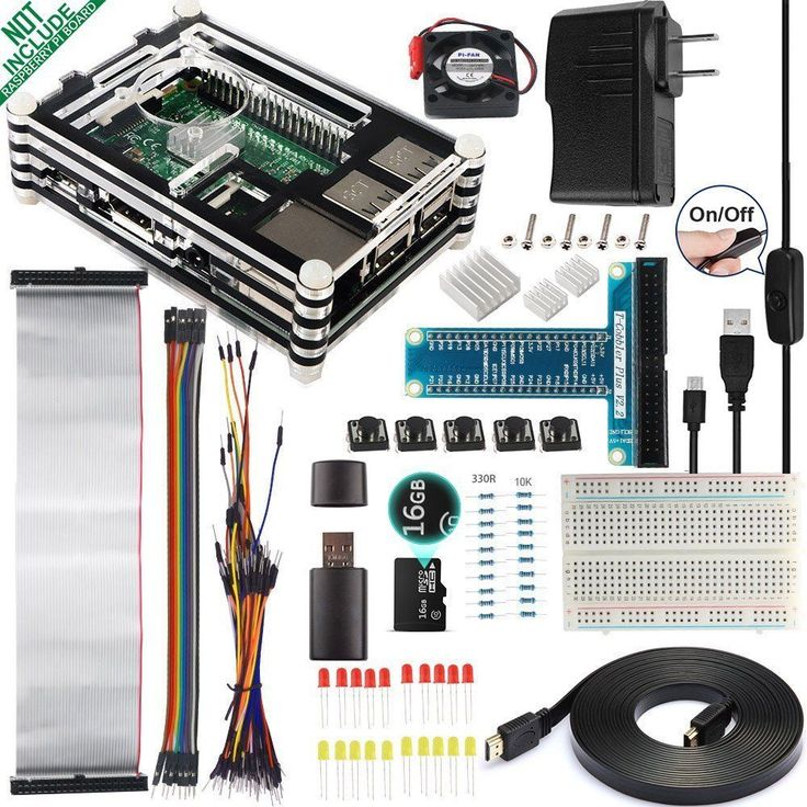 Raspberry Pi 3 Starter DIY Kit Model B Open Source Programming Coding Project #Smrmaza