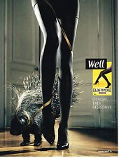 PUBLICITE ADVERTISING   2009   WELL  bas & collants