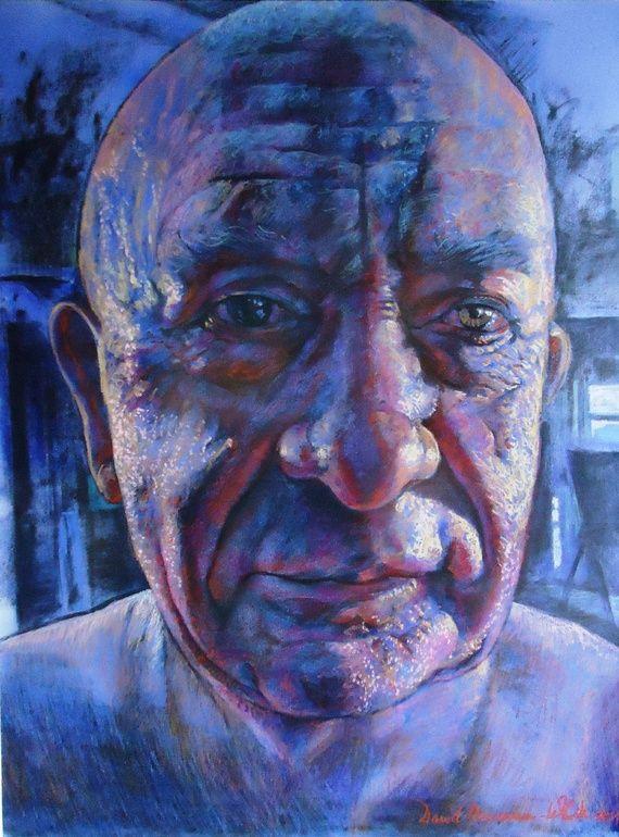 "Saatchi Online Artist: David Newman-White; Oil Pastel, 2011, Drawing """"Aristotle"""""