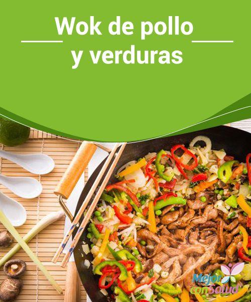 Wok de pollo y verduras Con lo mal que solemos ir de tiempo es una bendición aprender recetas rápidas. por ejemplo el Wok de Pollo y Verduras, te enseñamos a prepararla: